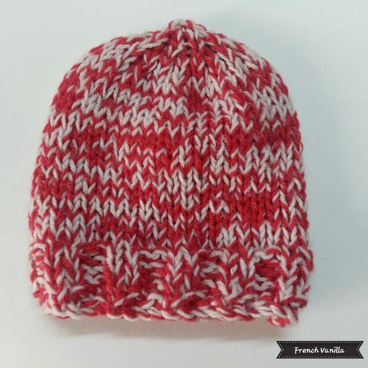 Pink-white baby cap
